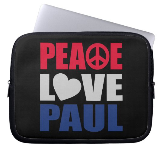 Peace Love Paul Laptop Sleeve