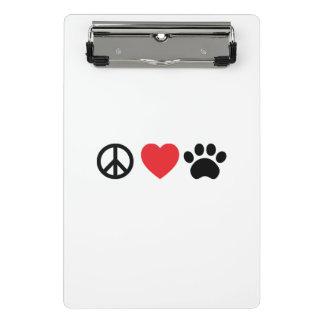 Peace, Love, Paw Mini Clipboard