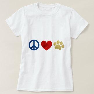 Peace Love Paw Print T-Shirt