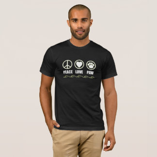 Peace, Love, Paw Symbols T-Shirt