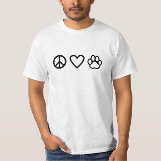 peace love & paw t-shirt