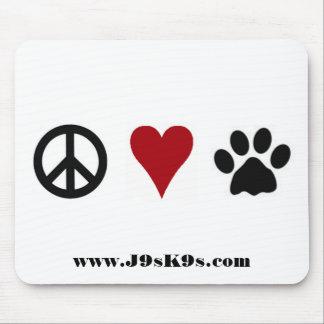 Peace-Love-Paws Mousepad