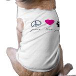 Peace Love Paws Sleeveless Dog Shirt