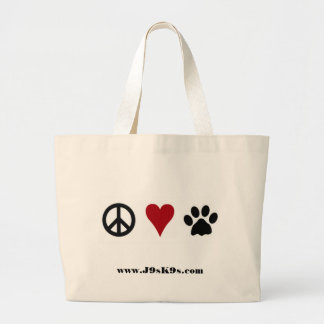 Peace-Love-Paws Tote Bag