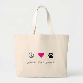 Peace Love Paws Tote Bags