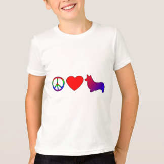 Peace Love Pembroke Welsh Corgis T-Shirt