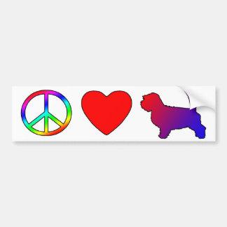 Peace Love Petit Basset Griffon Vendeens Car Bumper Sticker