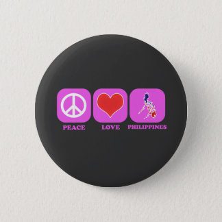 Peace Love Philippines 6 Cm Round Badge