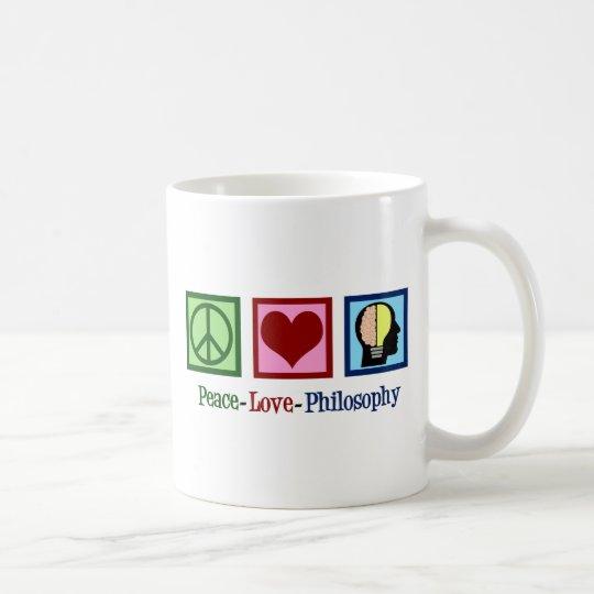 Peace Love Philosophy Coffee Mug