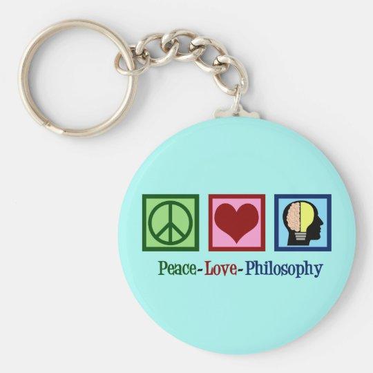 Peace Love Philosophy Key Ring