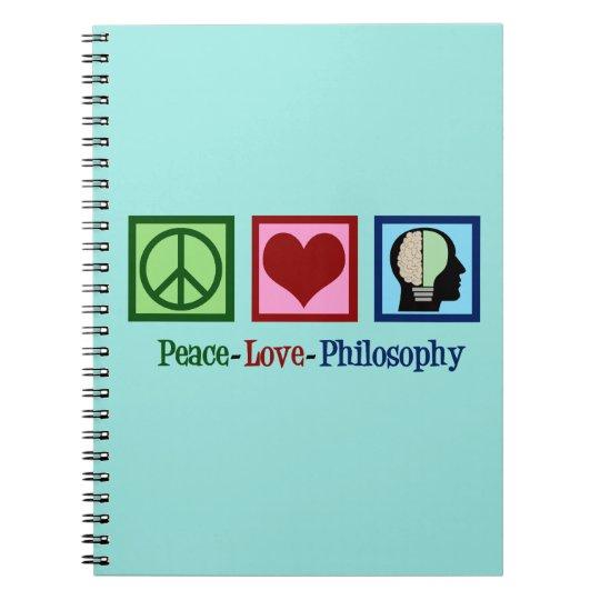 Peace Love Philosophy Notebook