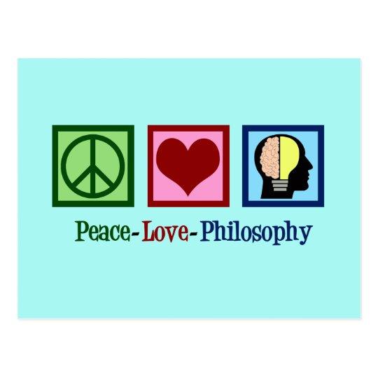 Peace Love Philosophy Postcard