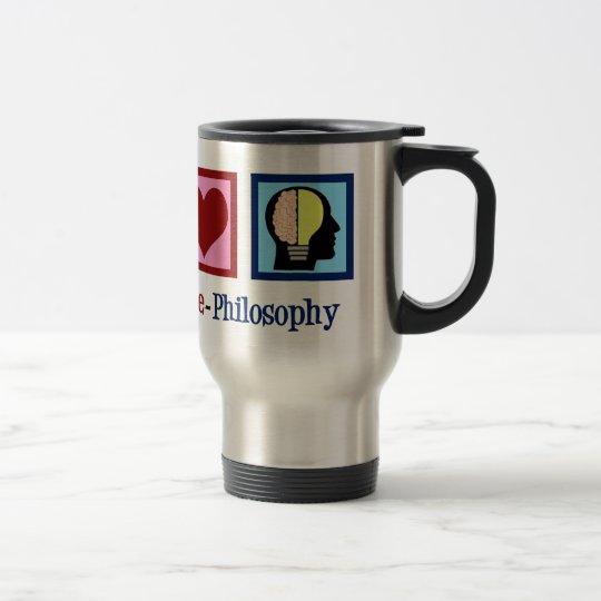Peace Love Philosophy Travel Mug