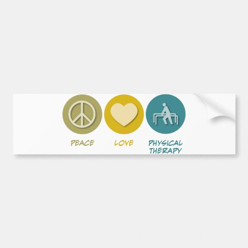 Peace Love Physical Therapy Bumper Stickers