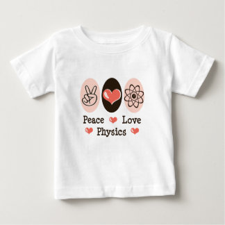 Peace Love Physics Baby T shirt