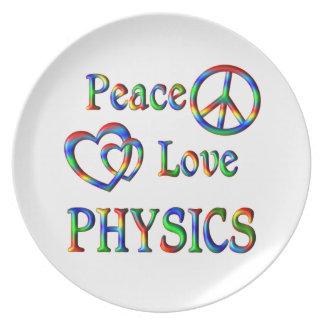 Peace Love PHYSICS Dinner Plates