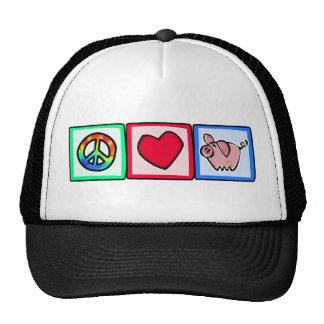 Peace, Love, Pigs Cap