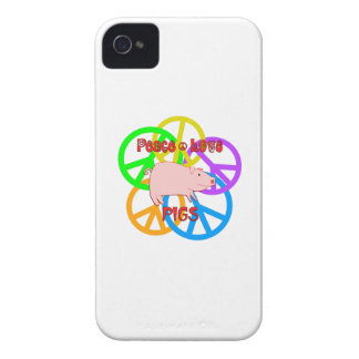 Peace Love Pigs iPhone 4 Case-Mate Cases