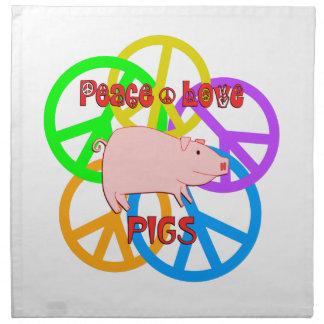 Peace Love Pigs Napkin