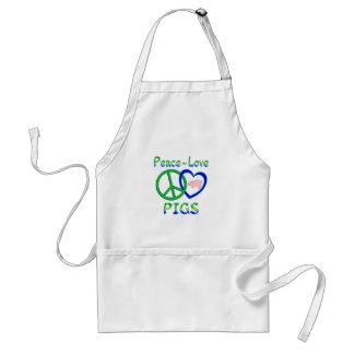 Peace Love Pigs Standard Apron