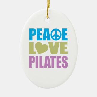 Peace Love Pilates Ceramic Oval Decoration
