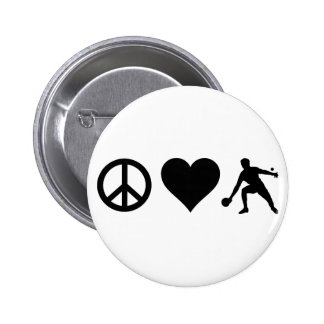 Peace Love Ping Pong 6 Cm Round Badge