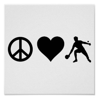 Peace Love Ping Pong Poster