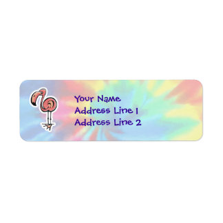 Peace, Love, Pink Flamingos Return Address Label