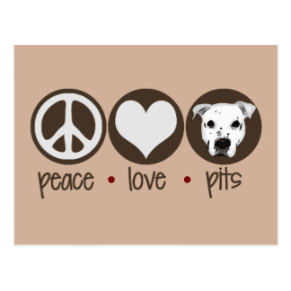 Peace Love Pits Postcard