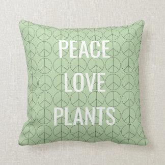 Peace Love Plants pillow