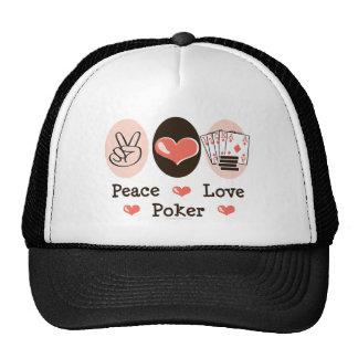 Peace Love Poker Hat
