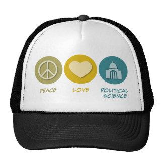 Peace Love Political Science Hat