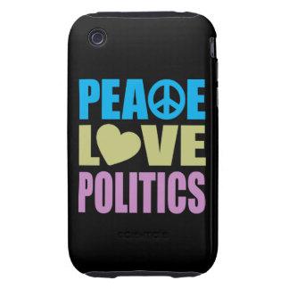 Peace Love Politics Tough iPhone 3 Covers