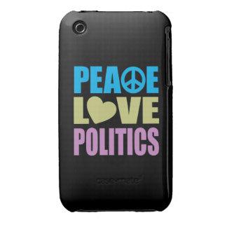 Peace Love Politics iPhone 3 Case-Mate Cases