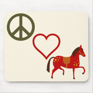Peace Love Ponies Horse Mousepad