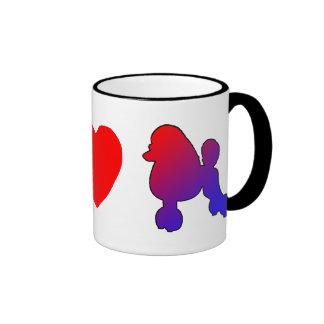 Peace Love Poodles Mug