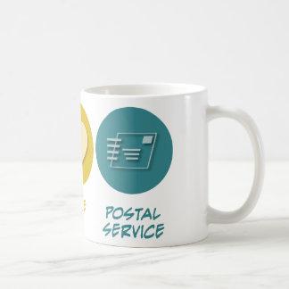 Peace Love Postal Service Coffee Mugs