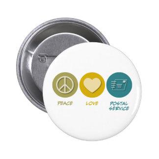 Peace Love Postal Service Pinback Buttons