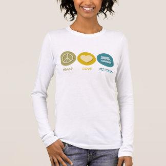 Peace Love Pottery Long Sleeve T-Shirt