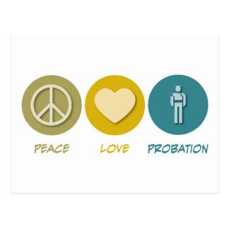 Peace Love Probation Postcard