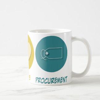 Peace Love Procurement Basic White Mug