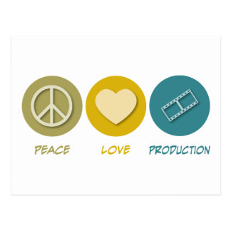 Peace Love Production Postcard