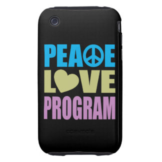 Peace Love Program Tough iPhone 3 Cover