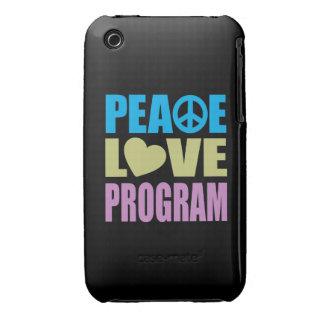 Peace Love Program iPhone 3 Cover