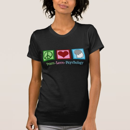 Peace Love Psychology Cute Psychologist T-Shirt