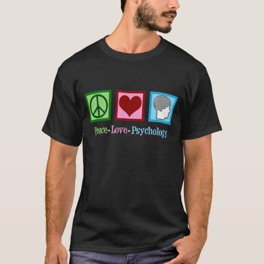 Peace Love Psychology Cute Psychologist T-Shirt
