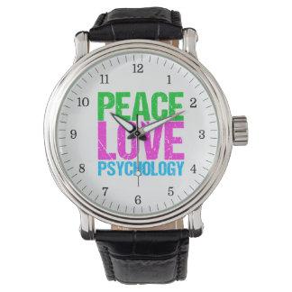 Peace Love Psychology Cute Watch