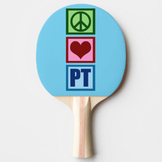 Peace Love PT Physical Therapy Ping Pong Paddle