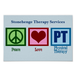 Peace Love PT Physical Therapy Poster