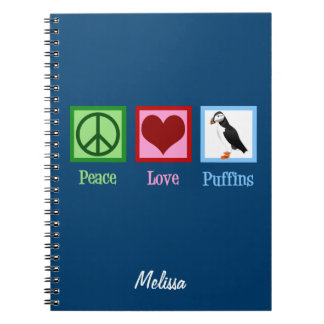 Peace Love Puffins Notebook